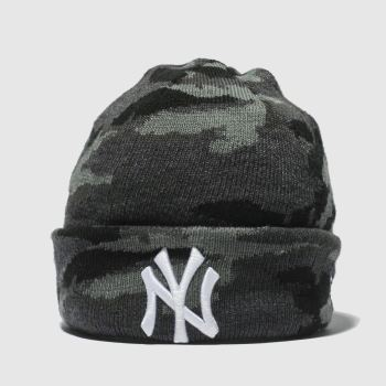 New Era Black Kids Camo Knit Ny Caps and Hats