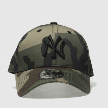 New Era Khaki 9forty League Essential Ny Caps and Hats