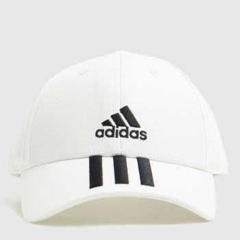 adidas White & Black Bball 3s Cap Caps and Hats