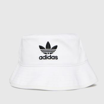 adidas White & Black Adi Bucket Hat Ac Caps and Hats