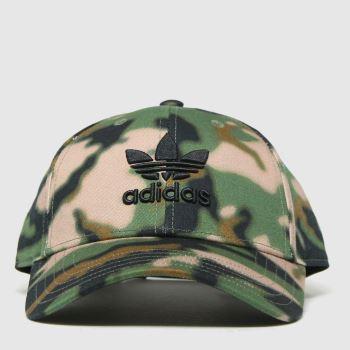 adidas Khaki Camo Bball Caps and Hats