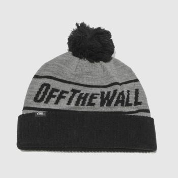 Vans Grey & Black Off The Wall Beanie Caps and Hats
