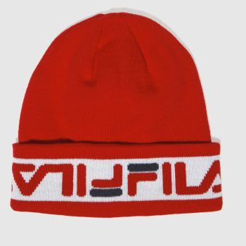Fila Red Murray Beanie Caps and Hats