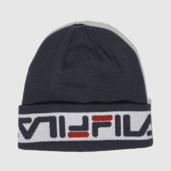 accessories fila navy & white murray beanie