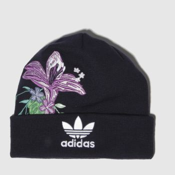 Adidas Navy & White Trefoil Hza Beanie Adults Hats
