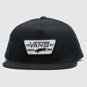Vans Black & White Full Patch Snapback Caps and Hats