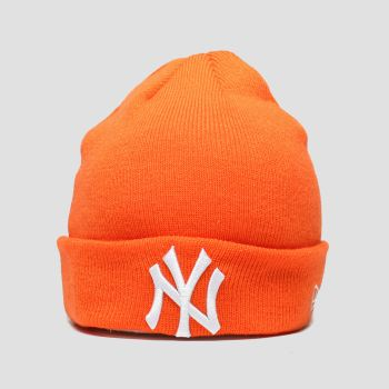 New Era Orange Kids Essenital Cuff Knit Ny c2namevalue::Caps and Hats