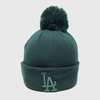 New Era Green Kids Essential Bobble La Caps and Hats