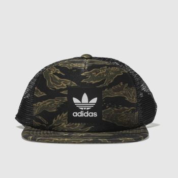 Adidas Khaki Trucker Caps and Hats