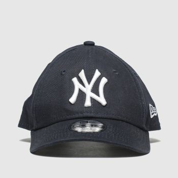 New Era Navy & White Kids Essential 9forty Ny Caps and Hats
