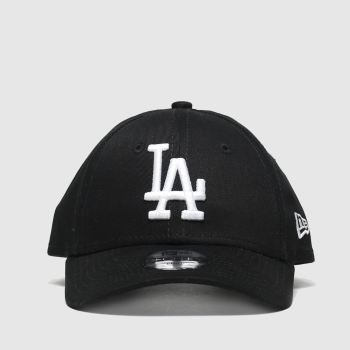 New Era Black & White Kids Essential 9forty La Caps and Hats
