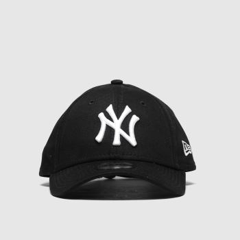 New Era Black & White Kids Essential 9forty Ny Caps and Hats