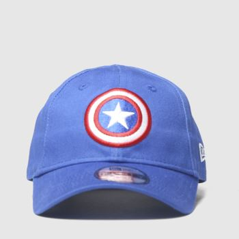 New Era Blue Kids Captain America 9forty Caps and Hats