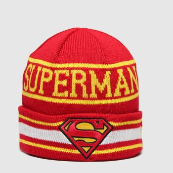 New Era Red Kids Dc Superman Knit Caps and Hats