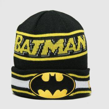 New Era black kids dc batman knit