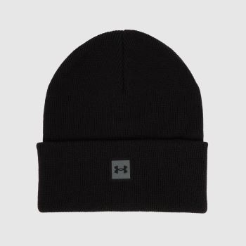 Under Armour Black Halftime Knit Beanie Caps and Hats