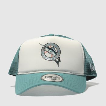 New Era Turquoise Coast To Coast Trucker Caps and Hats