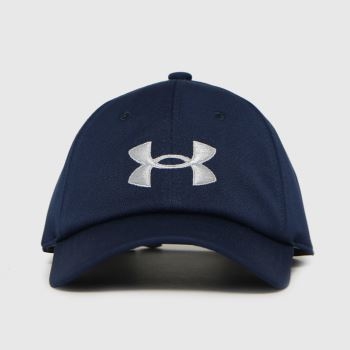Under Armour Navy Kids Blitzing Adj Hat Caps and Hats