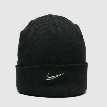 Nike Black Kids Beanie Metal Swoosh Caps and Hats