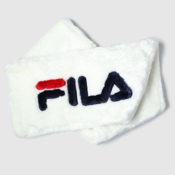 Fila White Selina Faux Fur Scarf Apparel