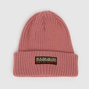 NAPAPIJRI Pink Foil Knit Adults Hats