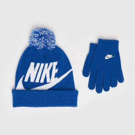 Nike Kids Pom Beanie And Glove Settitle=