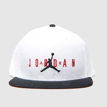 Nike Jordan White & Black Kids Pro Dna Caps and Hats