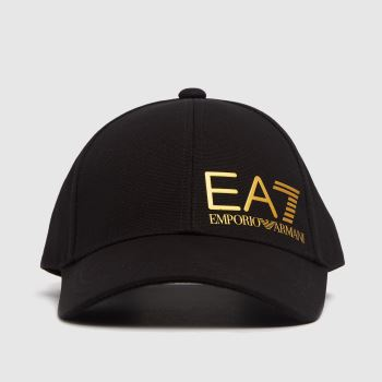 ARMANI Schwarz-Gold Training Logo Caps und Hüte