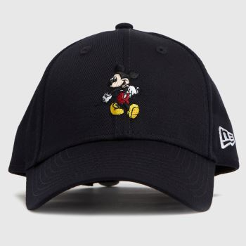 New Era Black Kids Mickey Mouse 9forty Caps and Hats