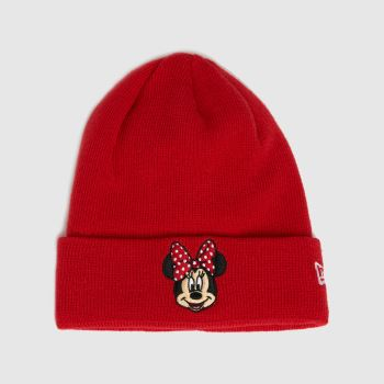 New Era Red Minnie Mouse Knit Caps and Hats