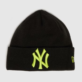New Era Black Kids Ny Cuff Knit Caps and Hats