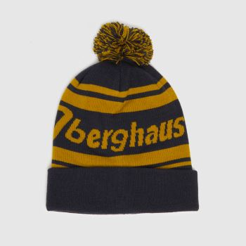 berghaus Navy & Gold Pom Beanie Caps and Hats