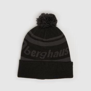 berghaus Black & Grey Pom Beanie Caps and Hats