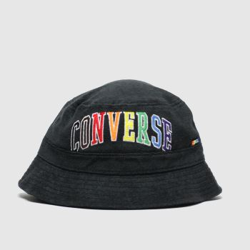 Converse Headwear Black & Orange Pride Bucket Adults Hats