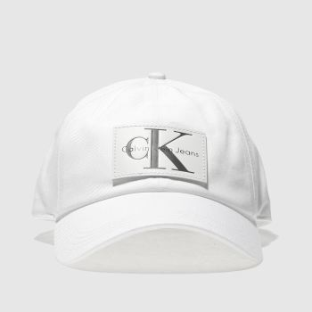 Calvin Klein White Jeans Re-Issue Leather Patch Caps and Hats