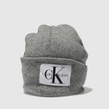 Calvin Klein Grey Jeans Nitted Beanie Adults Hats