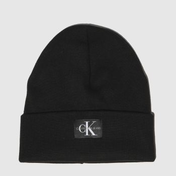 Calvin Klein Black JEANS MONOGRAM BEANIE Caps and Hats