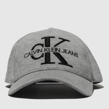 Calvin Klein Grey Jeans Monogram Jersey Caps and Hats