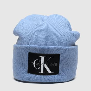 Calvin Klein Blue Basic Knitted Beanie Caps and Hats