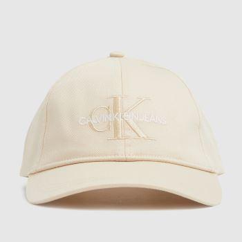 CALVIN KLEIN White Monogram Caps and Hats