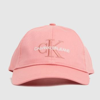 CALVIN KLEIN Pale Pink Monogram Caps and Hats