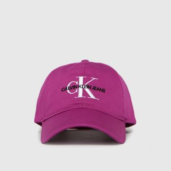 CALVIN KLEIN Pink Monogram Caps and Hats