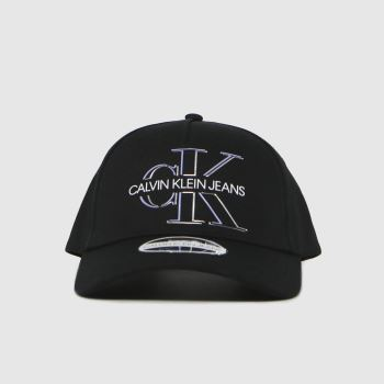 CALVIN KLEIN Black Glow Cap Caps and Hats