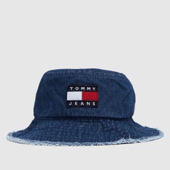 Tommy Hilfiger Blue Heritage Denim Bucket Caps and Hats
