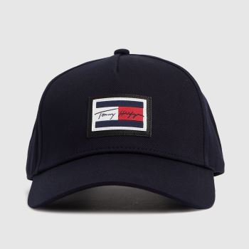 Tommy Hilfiger Navy & White Signature Flag Caps and Hats