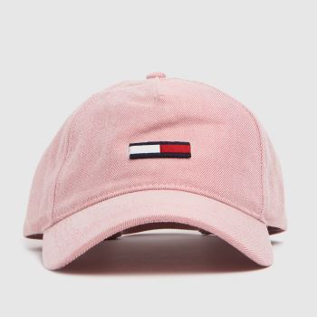 Tommy Hilfiger Pale Pink Lag Washed Denim Caps and Hats