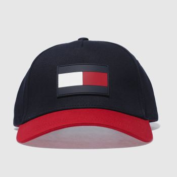 Tommy Hilfiger Navy & Red Tj Flag Adults Hats