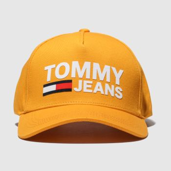 Tommy Hilfiger Orange Tj Flock Caps and Hats