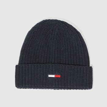 Tommy Hilfiger Navy TJ BASIC RIB BEANIE Caps and Hats