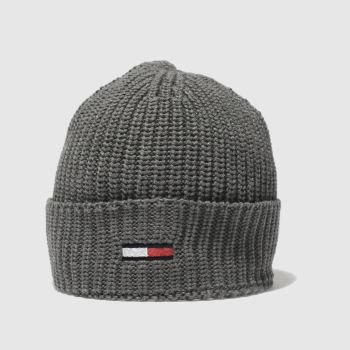 ACCESSORIES TOMMY HILFIGER DARK GREY TJ BASIC RIB BEANIE
